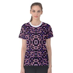 Colorful Tribal Geometric Print Women s Cotton Tee