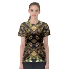 Tribal Jungle Print Women s Sport Mesh Tee