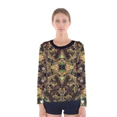 Tribal Jungle Print Long Sleeve T-shirt (Women)