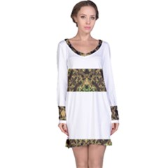 Tribal Jungle Print Long Sleeve Nightdress