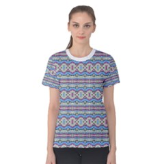 Aztec Style Pattern In Pastel Colors Women s Cotton Tee