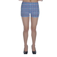 Aztec Style Pattern in Pastel Colors Skinny Shorts