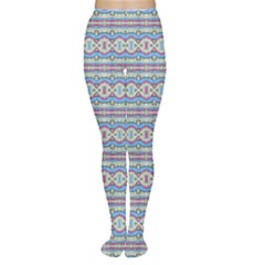 Aztec Style Pattern In Pastel Colors Tights