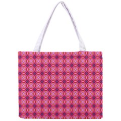 Abstract Pink Floral Tile Pattern Tiny Tote Bag