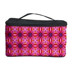Abstract Pink Floral Tile Pattern Cosmetic Storage Case