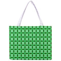 Green Abstract Tile Pattern Tiny Tote Bag