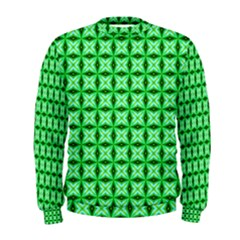 Green Abstract Tile Pattern Men s Sweatshirt