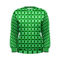 Green Abstract Tile Pattern Women s Sweatshirt