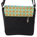 Aqua Mint Pattern Flap Closure Messenger Bag (Small) View1