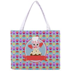 Cupcake With Cute Pig Chef Tiny Tote Bag