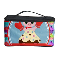Cupcake With Cute Pig Chef Cosmetic Storage Case