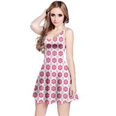 Sweety Pink Floral Print Sleeveless Dress