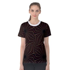 Tribal Geometric Vintage Pattern  Women s Cotton Tee