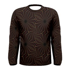 Tribal Geometric Vintage Pattern  Long Sleeve T Shirt (men)