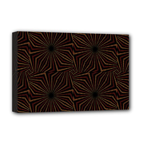 Tribal Geometric Vintage Pattern  Deluxe Canvas 18  X 12  (framed)