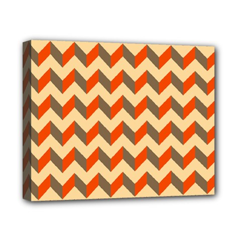 Modern Retro Chevron Patchwork Pattern  Canvas 10  X 8  (framed)