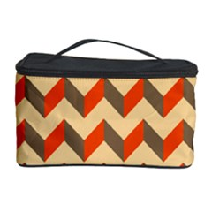 Modern Retro Chevron Patchwork Pattern  Cosmetic Storage Case