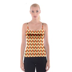 Modern Retro Chevron Patchwork Pattern  Spaghetti Strap Top