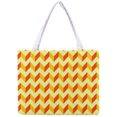 Modern Retro Chevron Patchwork Pattern  Tiny Tote Bag