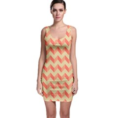 Modern Retro Chevron Patchwork Pattern Bodycon Dress