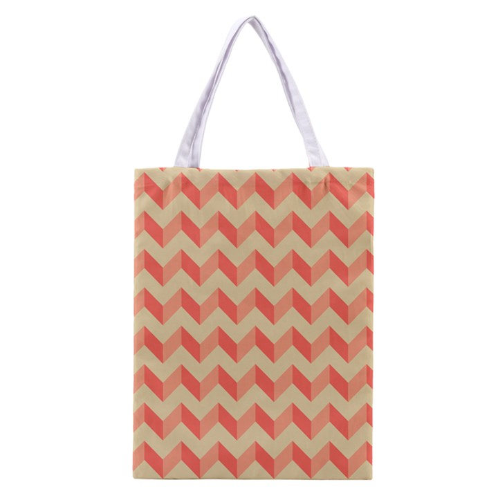 Modern Retro Chevron Patchwork Pattern Classic Tote Bag