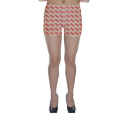 Modern Retro Chevron Patchwork Pattern Skinny Shorts