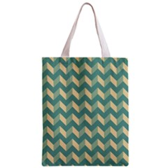 Mint Modern Retro Chevron Patchwork Pattern Classic Tote Bag