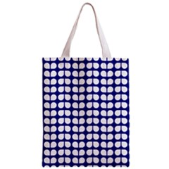 Blue And White Leaf Pattern Classic Tote Bag