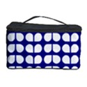Blue And White Leaf Pattern Cosmetic Storage Case View1