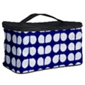 Blue And White Leaf Pattern Cosmetic Storage Case View2