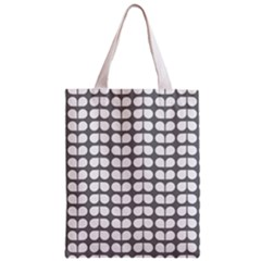 Gray And White Leaf Pattern Classic Tote Bag