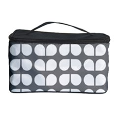 Gray And White Leaf Pattern Cosmetic Storage Case