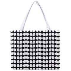Black And White Leaf Pattern Tiny Tote Bag
