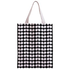 Black And White Leaf Pattern Classic Tote Bag