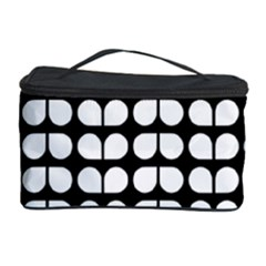 Black And White Leaf Pattern Cosmetic Storage Case