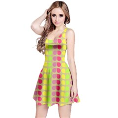 Colorful Leaf Pattern Sleeveless Dress