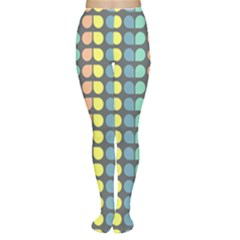 Colorful Leaf Pattern Tights