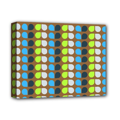 Colorful Leaf Pattern Deluxe Canvas 14  X 11  (framed)