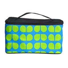 Blue Lime Leaf Pattern Cosmetic Storage Case
