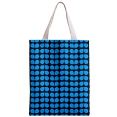 Blue Gray Leaf Pattern Classic Tote Bag