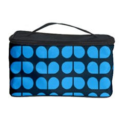 Blue Gray Leaf Pattern Cosmetic Storage Case