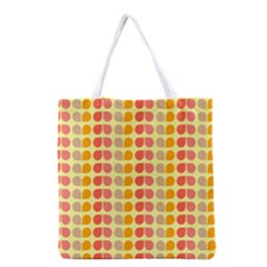 Colorful Leaf Pattern Grocery Tote Bag