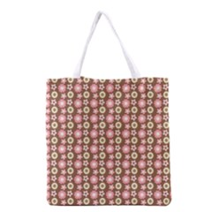 Cute Floral Pattern Grocery Tote Bag