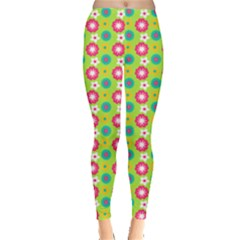 Cute Floral Pattern Leggings