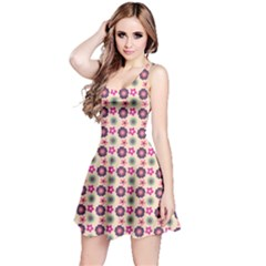 Cute Floral Pattern Sleeveless Dress