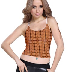 Faux Animal Print Pattern Women s Spaghetti Strap Bra Top