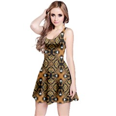 Faux Animal Print Pattern Sleeveless Dress