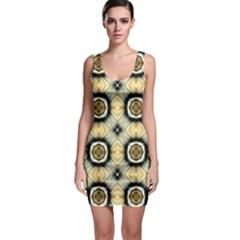 Faux Animal Print Pattern Bodycon Dress