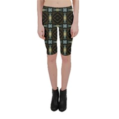 Faux Animal Print Pattern Cropped Leggings