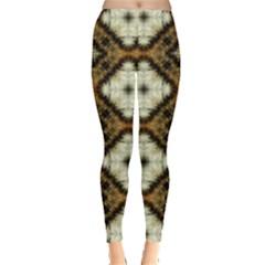 Faux Animal Print Pattern Leggings
